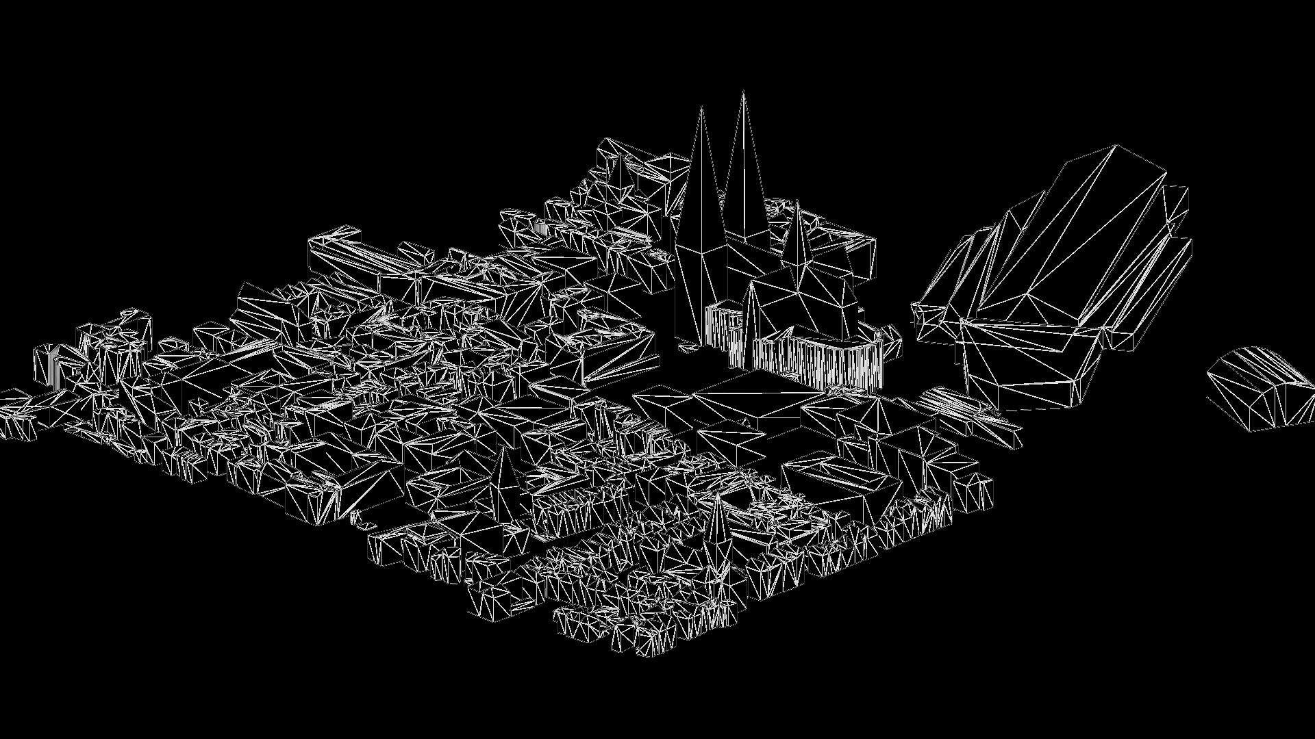 3D Mesh Modell Köln