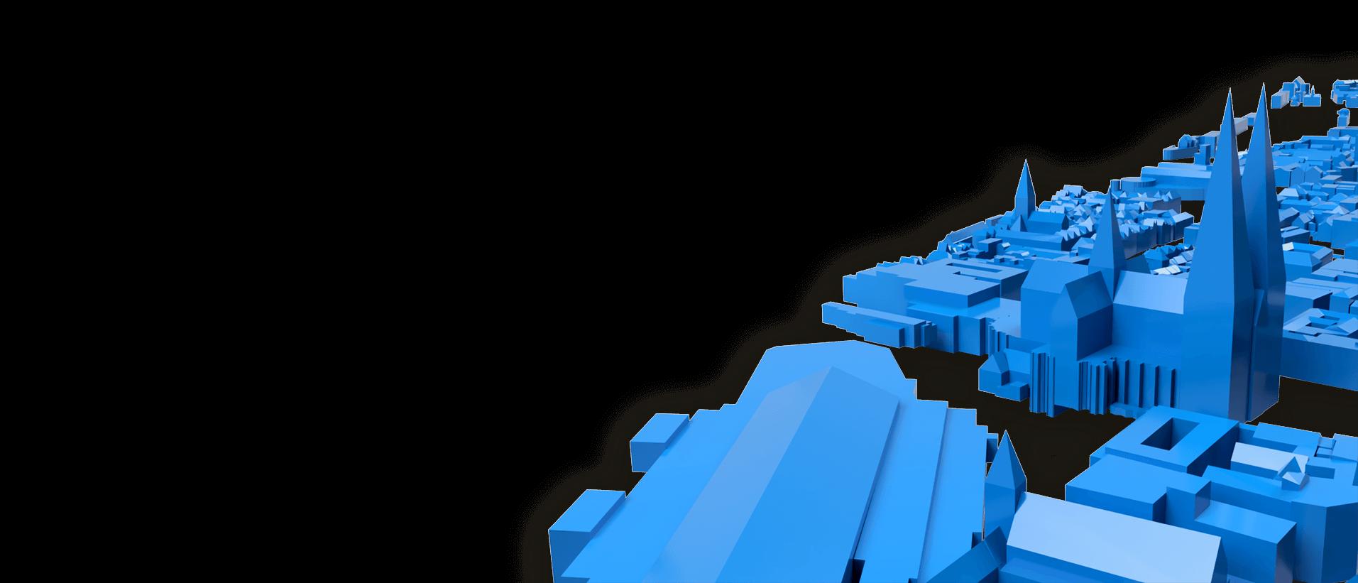 3d city model render cologne