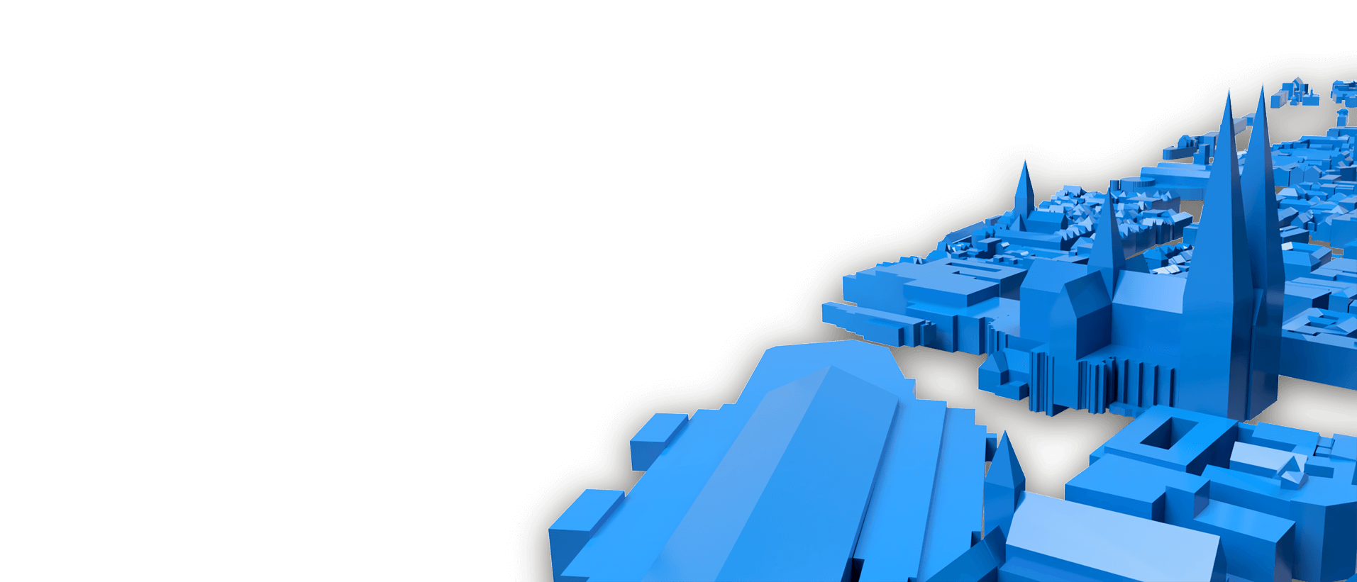 Gerendertes 3D Standmodell Köln